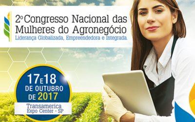 Inscrições abertas para o 2˚Congresso Nacional das Mulheres do Agronegócio