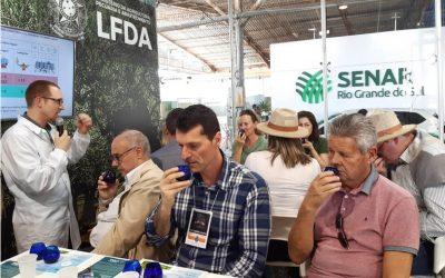 Laboratório do Ministério na Expointer mostra ao público como é feita análise dos azeites