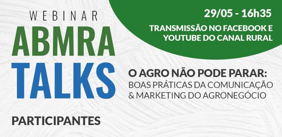 Boas Práticas de Comunicação e Marketing no Agro são temas de webinar da ABMRA